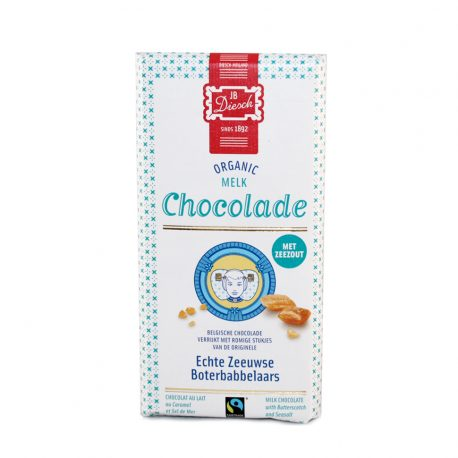 Diesch melk chocolade reep met babbelaar en zeezout