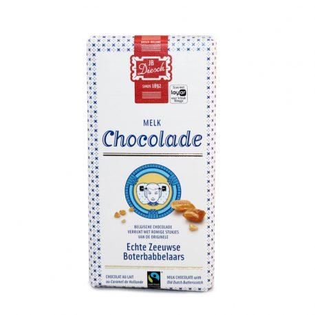 Diesch melk chocolade reep met babbelaar