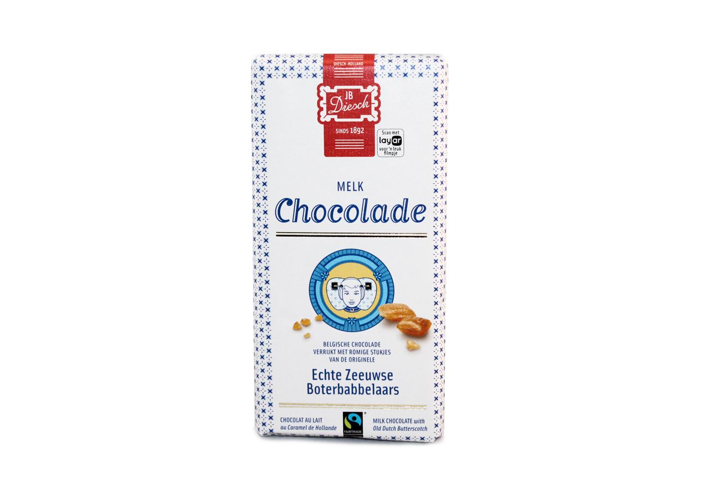 Melk chocolade met babbelaar