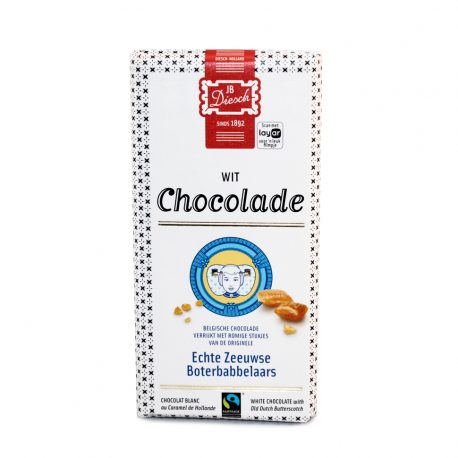 Witte Chocolade met stukjes Babbelaars