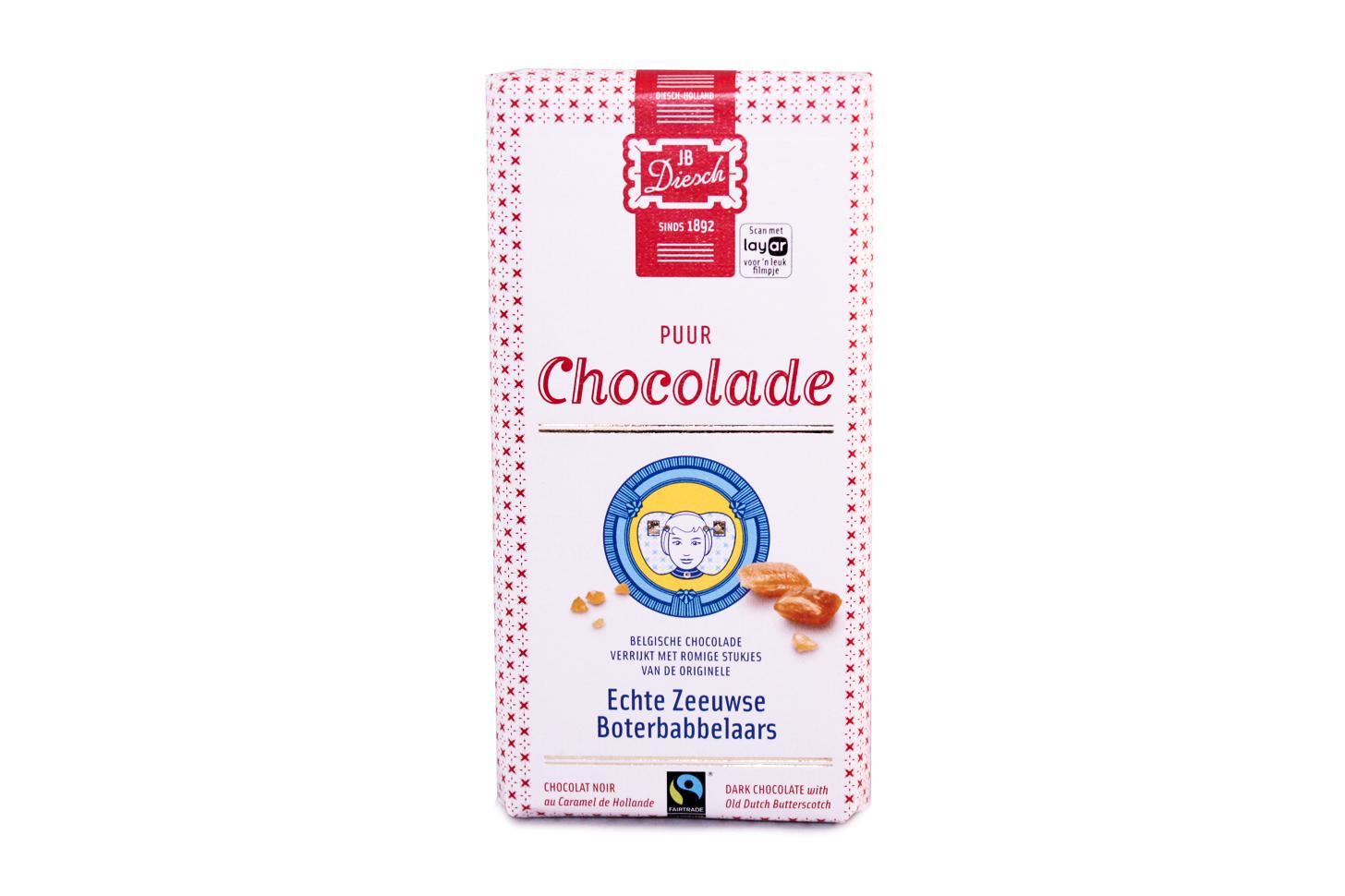 Pure chocolade met babbelaar